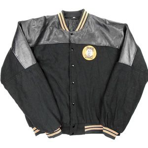 Negro League Leather Wool Baseball Jacket 2XL